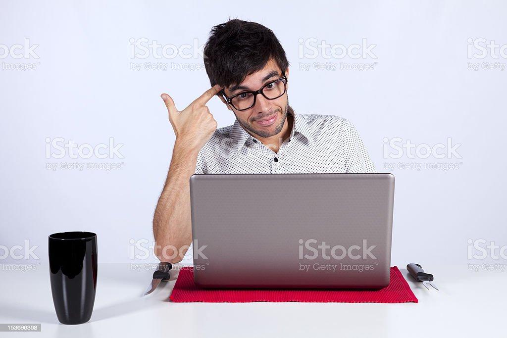 Technology make me crazy stock photo