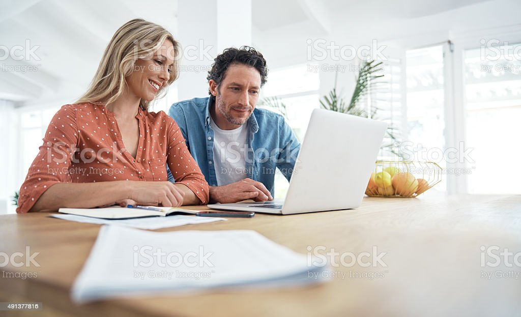Technology makes budgeting simpler and more efficient stock photo