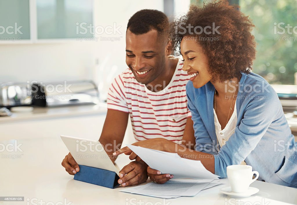 Technology makes budgeting so much easier stock photo