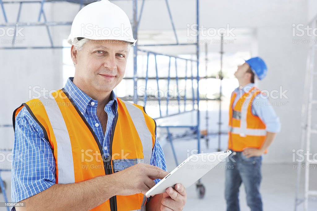 Technology makes our work so much easier royalty-free stock photo