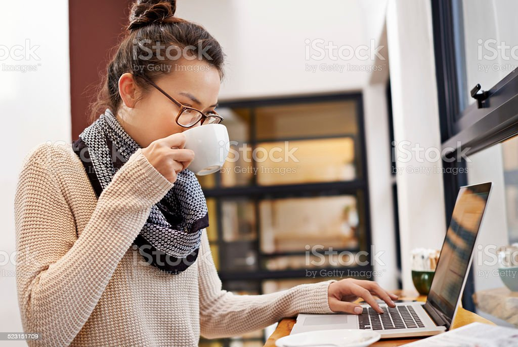 Technology makes work easy stock photo