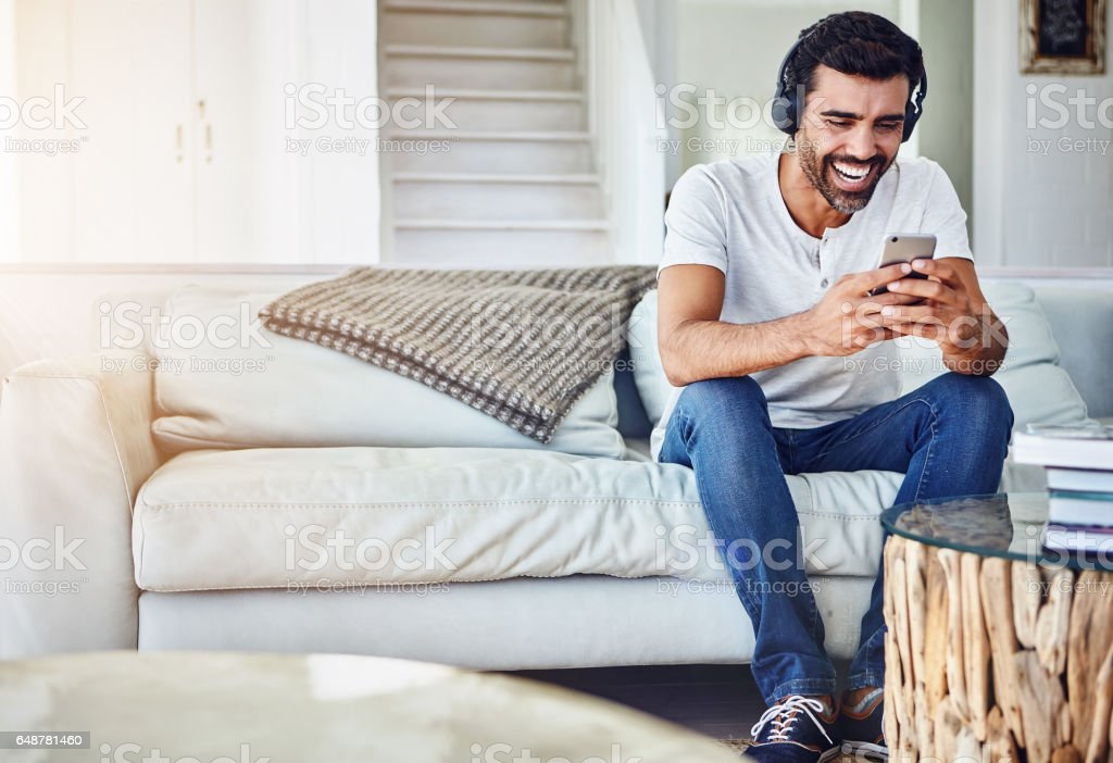 Technology, making it easier to share the laughs stock photo