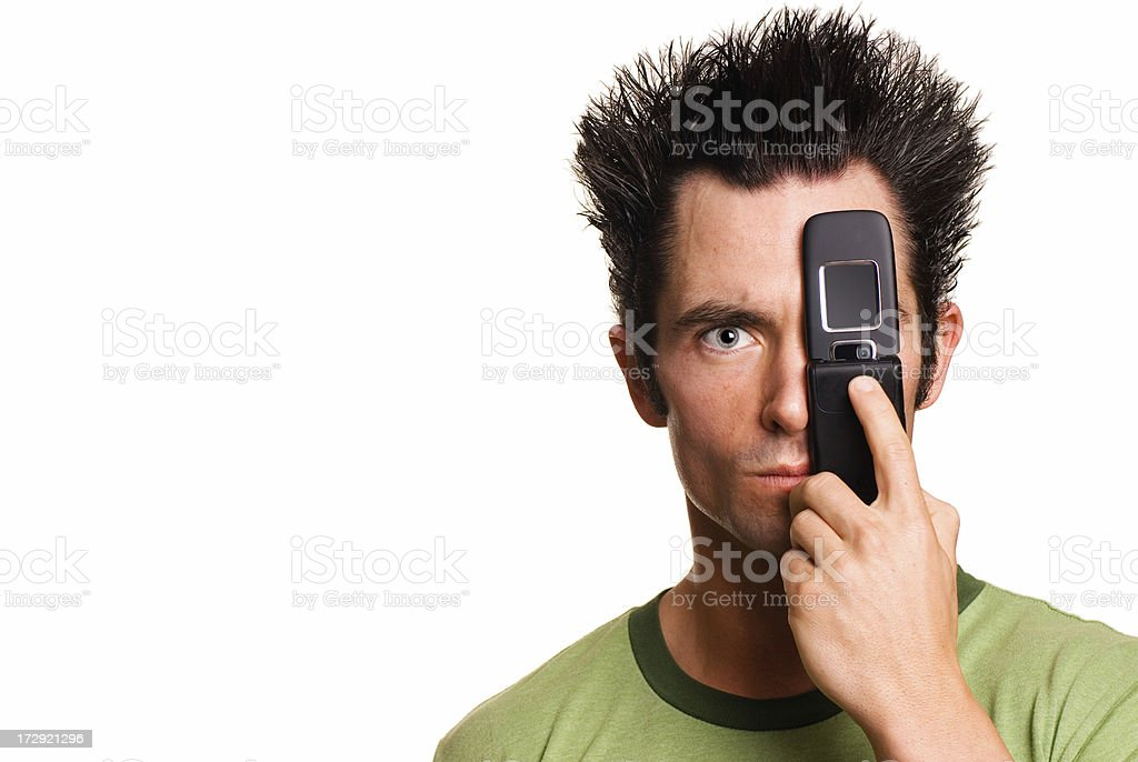 Technology Male Portrait royalty-free stock photo