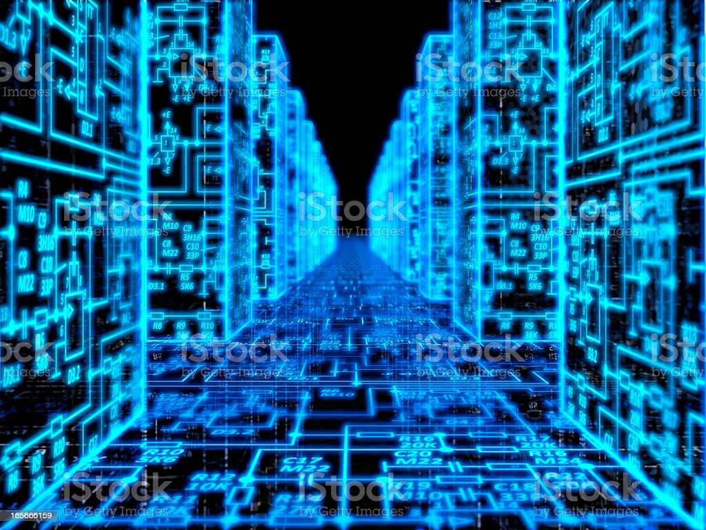 Technology memory database abstract background stock photo