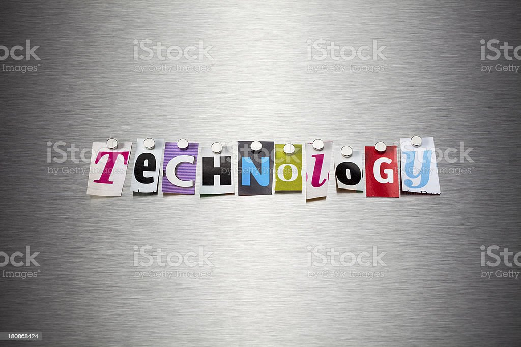 Technology On Brushed Metal royalty-free stock photo