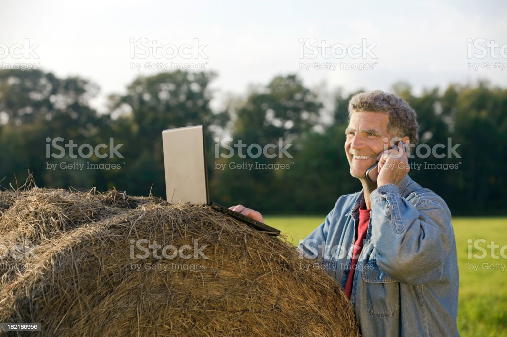 Technology on the farm royalty-free stock photo