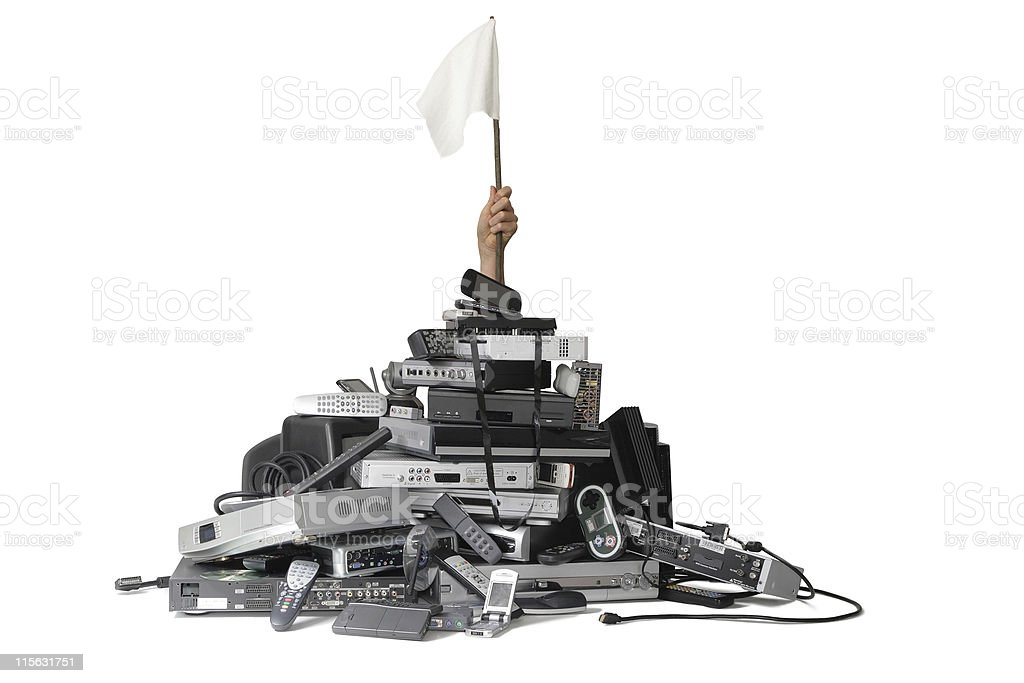 Technology Pile stock photo