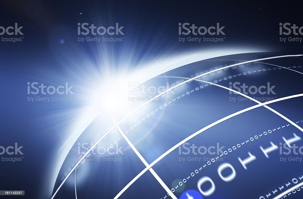 Technology Planet royalty-free stock photo