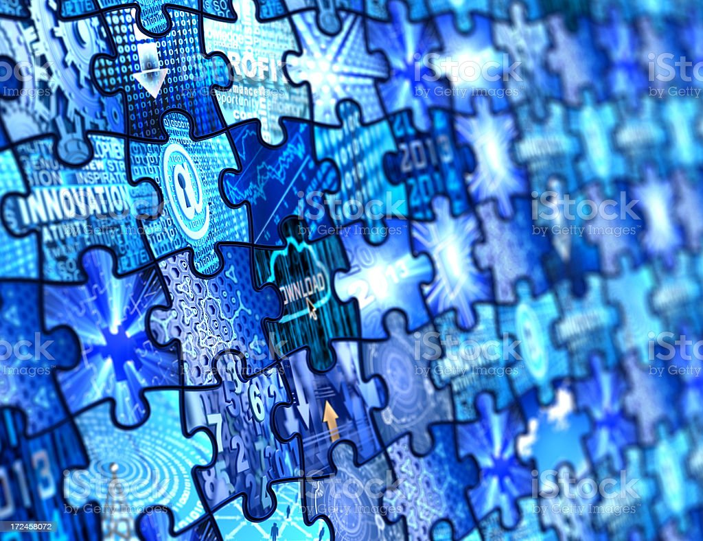 Technology Puzzles royalty-free stock photo