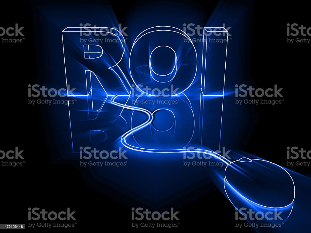 Technology ROI stock photo