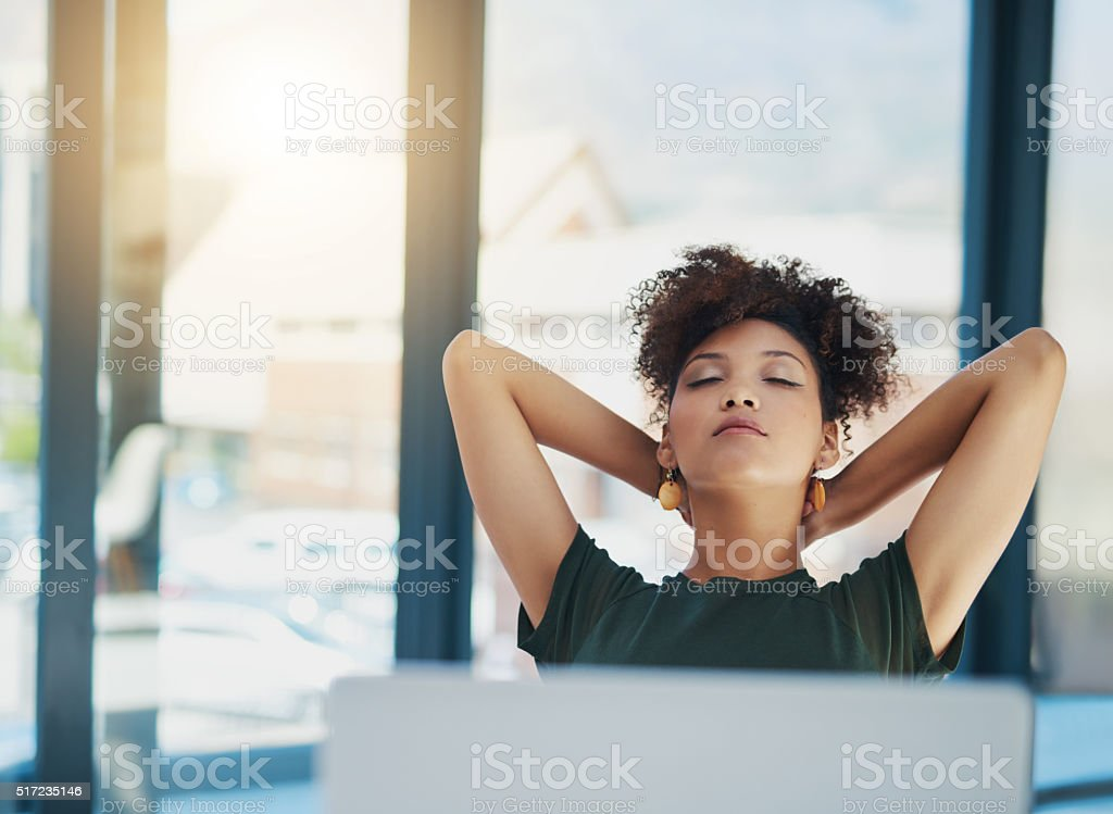 Technology saves times by speeding up the work flow process stock photo