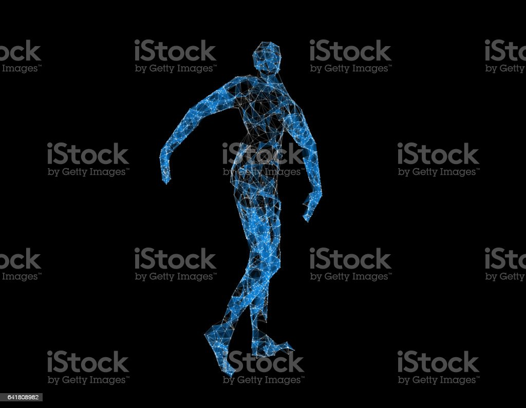Human wireframe, technology and the future, human technology,...