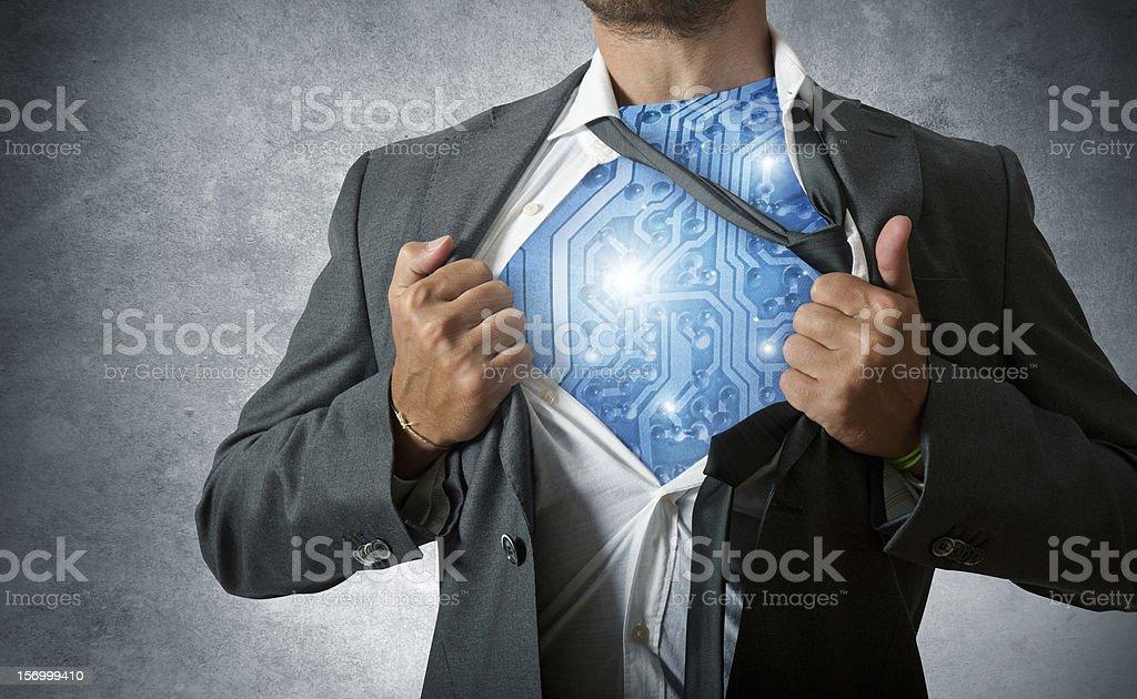 Technology super hero stock photo