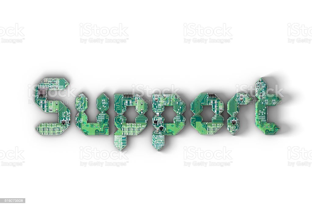 Technology support stock photo