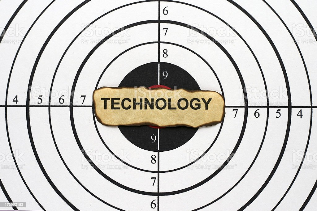 Technology target royalty-free stock photo