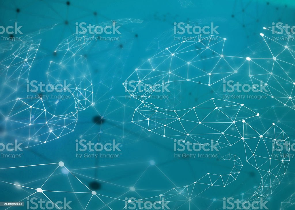 Technology Triangle network Illustration. stock photo