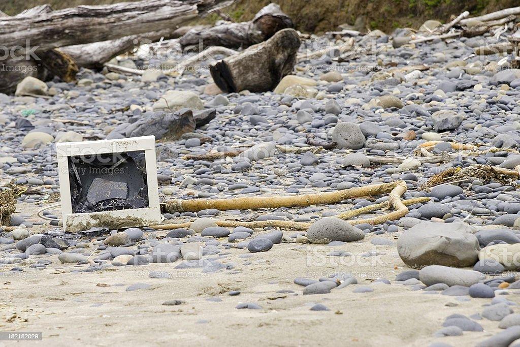 Technology Washed Ashore (2) royalty-free stock photo
