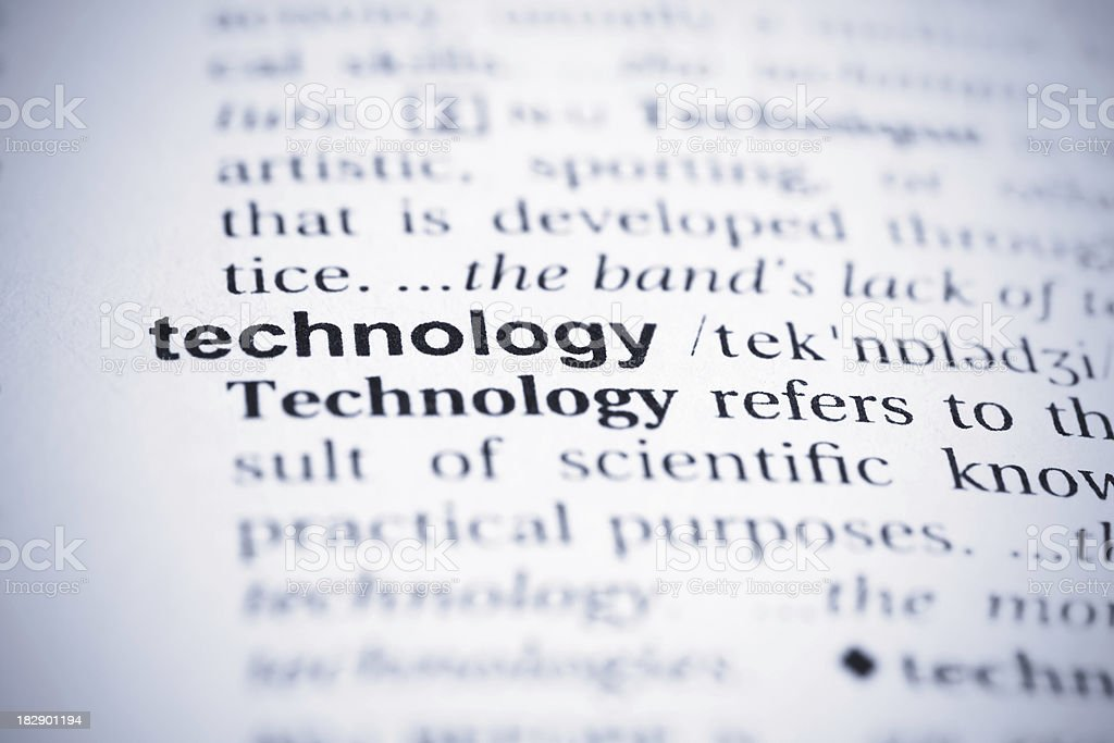 Technology Word royalty-free stock photo