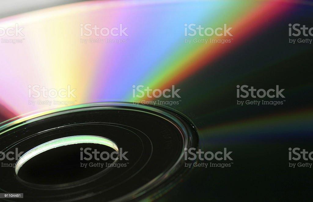 Tech-rainbow on a blank CD/DVD stock photo