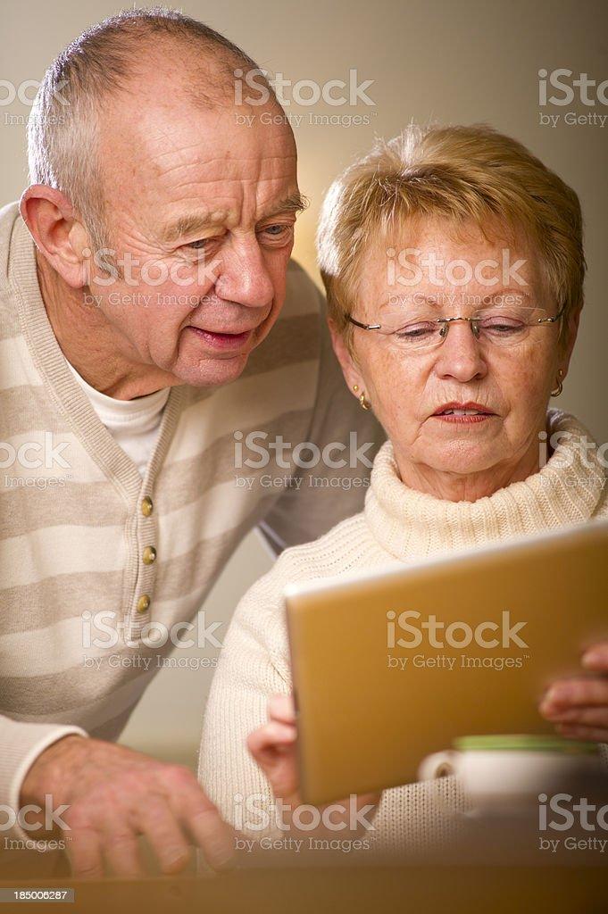 techy seniors royalty-free stock photo