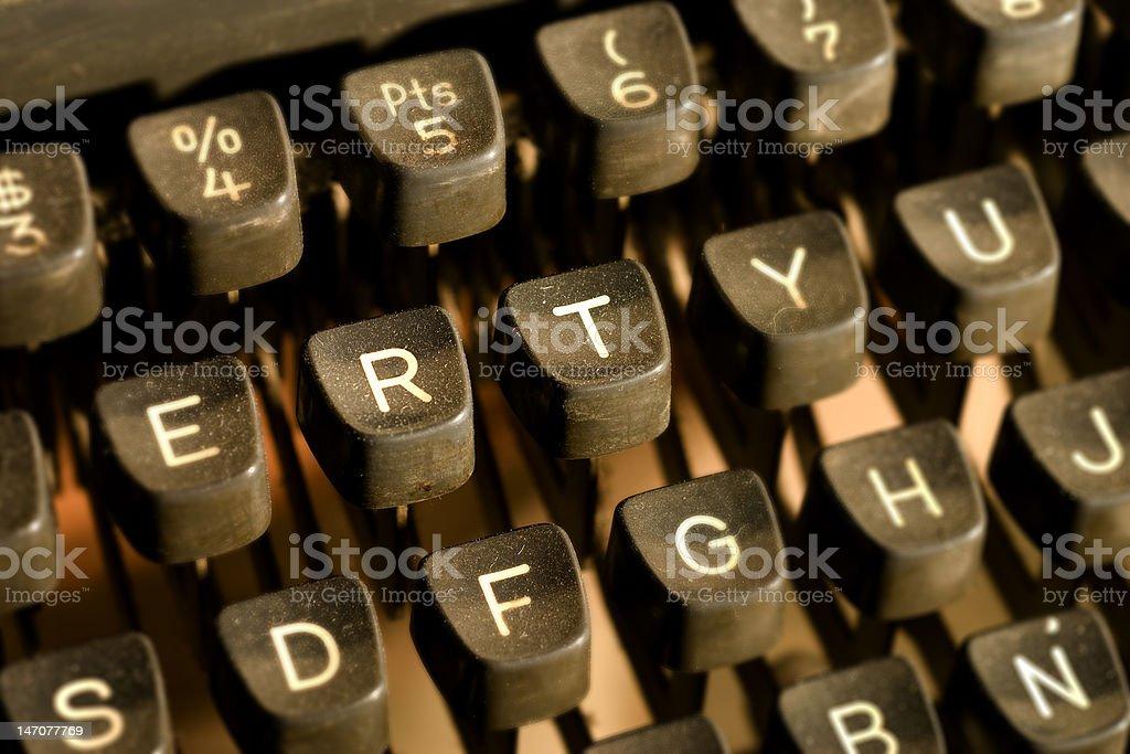 Teclado viejo- Old keyboard royalty-free stock photo