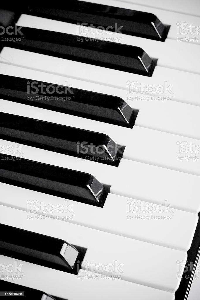 Teclas de piano royalty-free stock photo