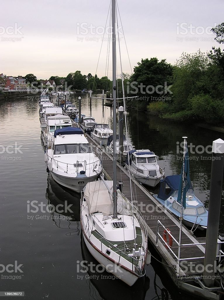 Teddington Lock Moorings royalty-free stock photo