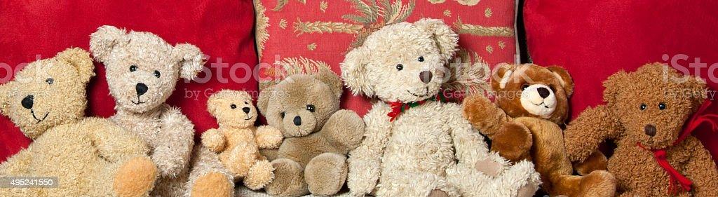 Teddy Bear Bunch - Family Reunion stock photo