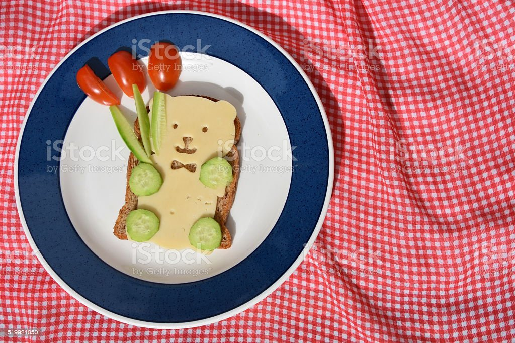 Teddy bear -Fun children's food stock photo
