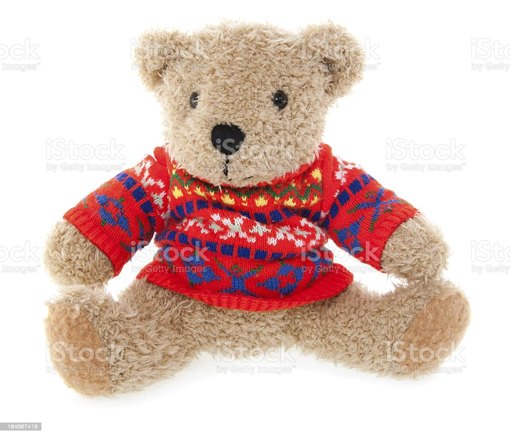 Teddy Bear in Red Sweater royalty-free stock photo