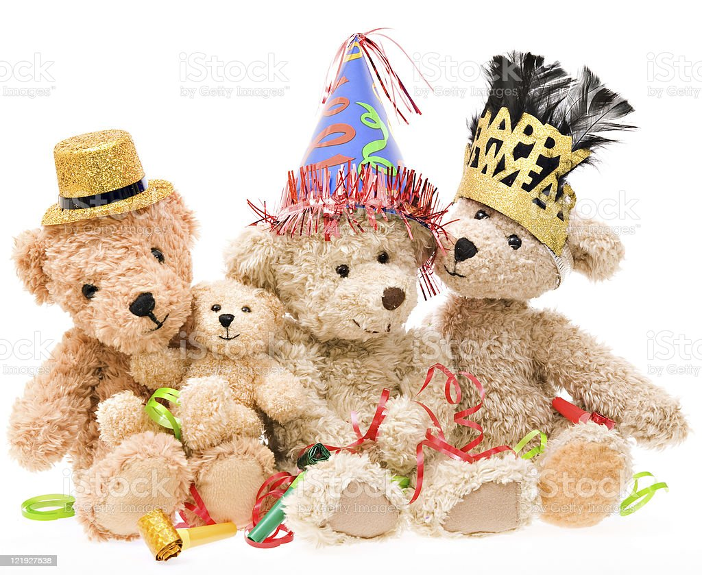 Teddy Bear New Year's Day stock photo