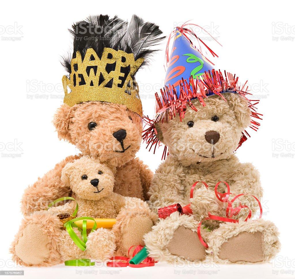 Teddy Bear New Year's Day royalty-free stock photo