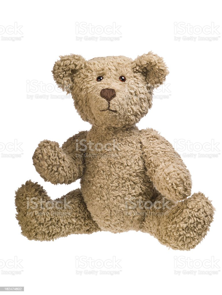 Teddy bear sitting stock photo