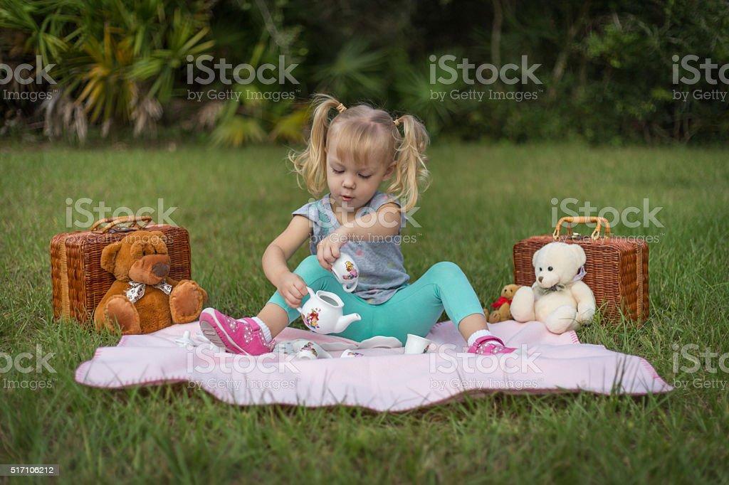 Teddy Bear Tea Party stock photo