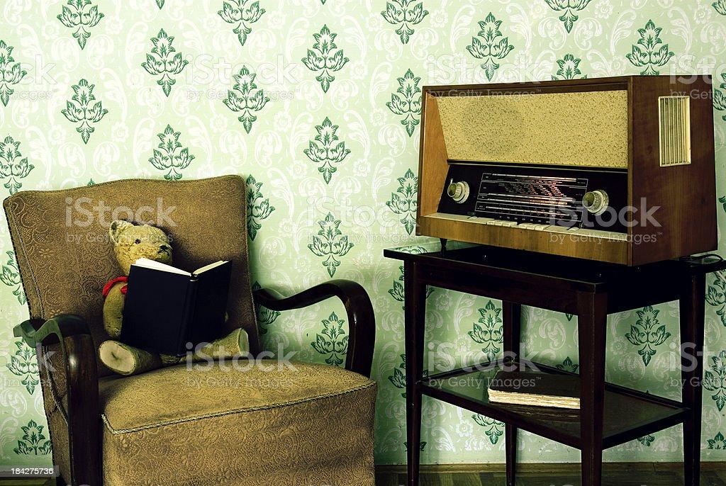 Teddy Bear to read royalty-free stock photo