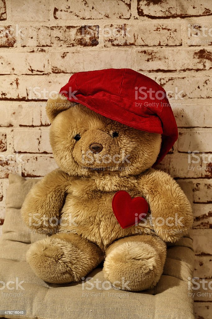 Teddy bear with a heart royalty-free stock photo