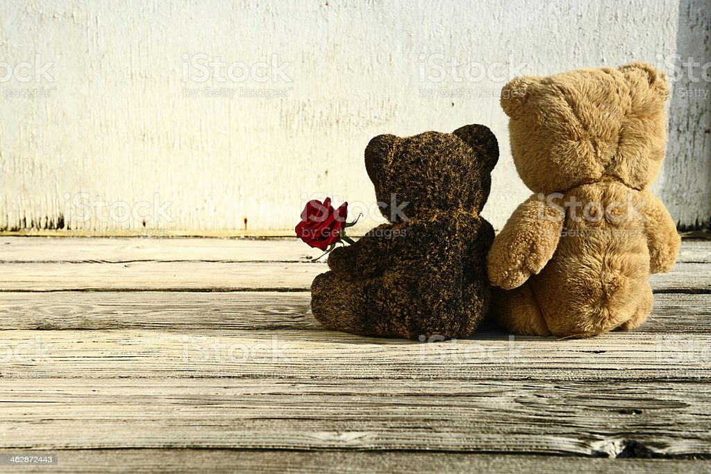 Teddy Bears In Love royalty-free stock photo