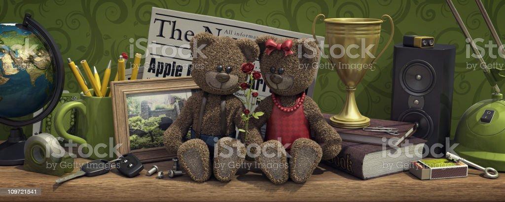 teddy bears love royalty-free stock photo