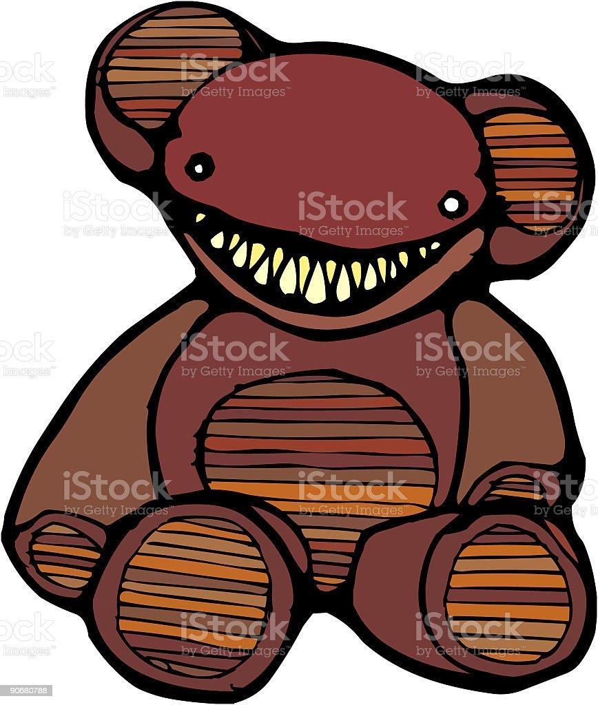 teddy evil royalty-free stock photo
