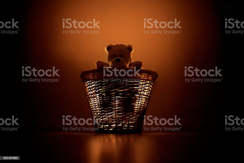 Teddy light stock photo