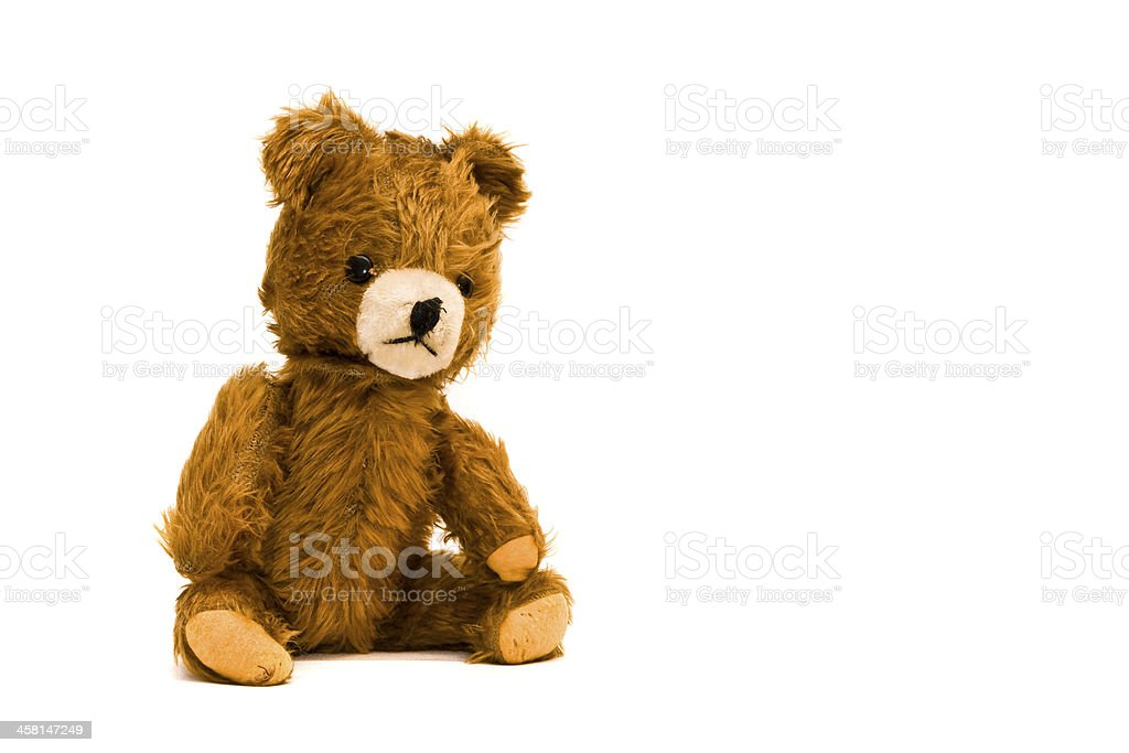 Teddy-bear isolated on a white background stock photo