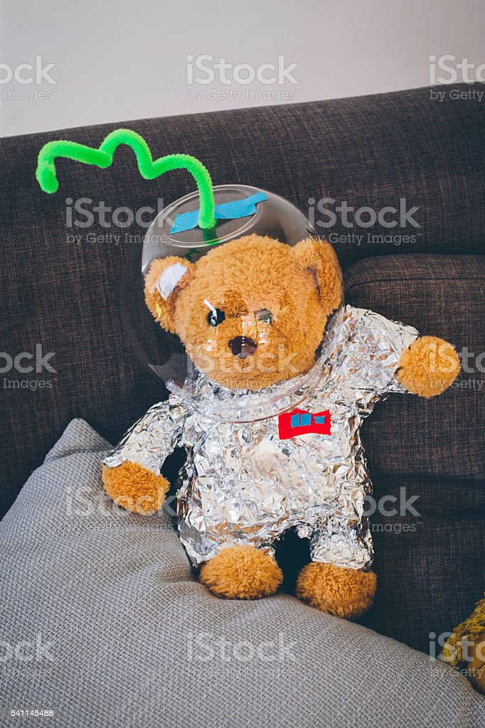 Teddybear ready for Outer Space stock photo