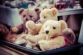 Teddybears at a flea market