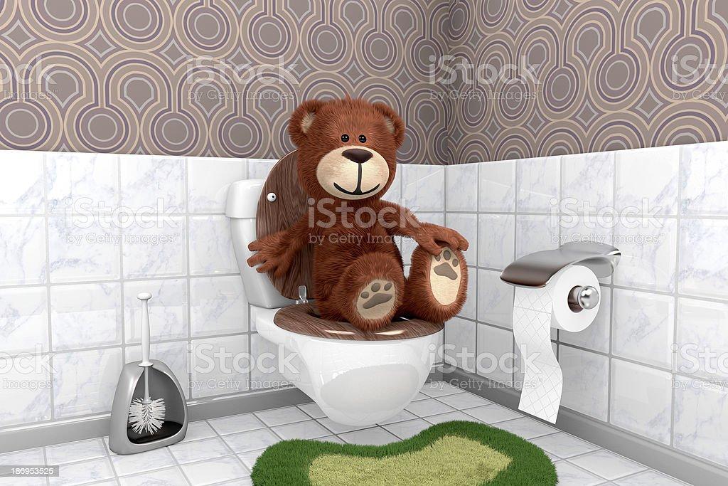 Teddyb?r auf Klosch??el royalty-free stock photo
