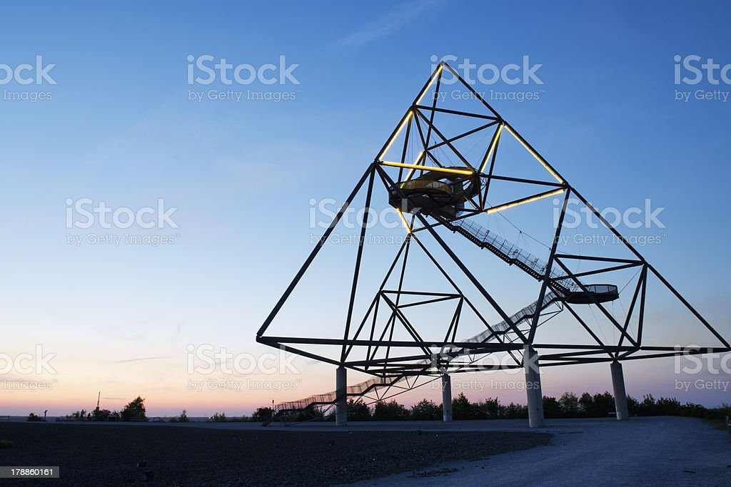Tedraeder Bottrop by night stock photo