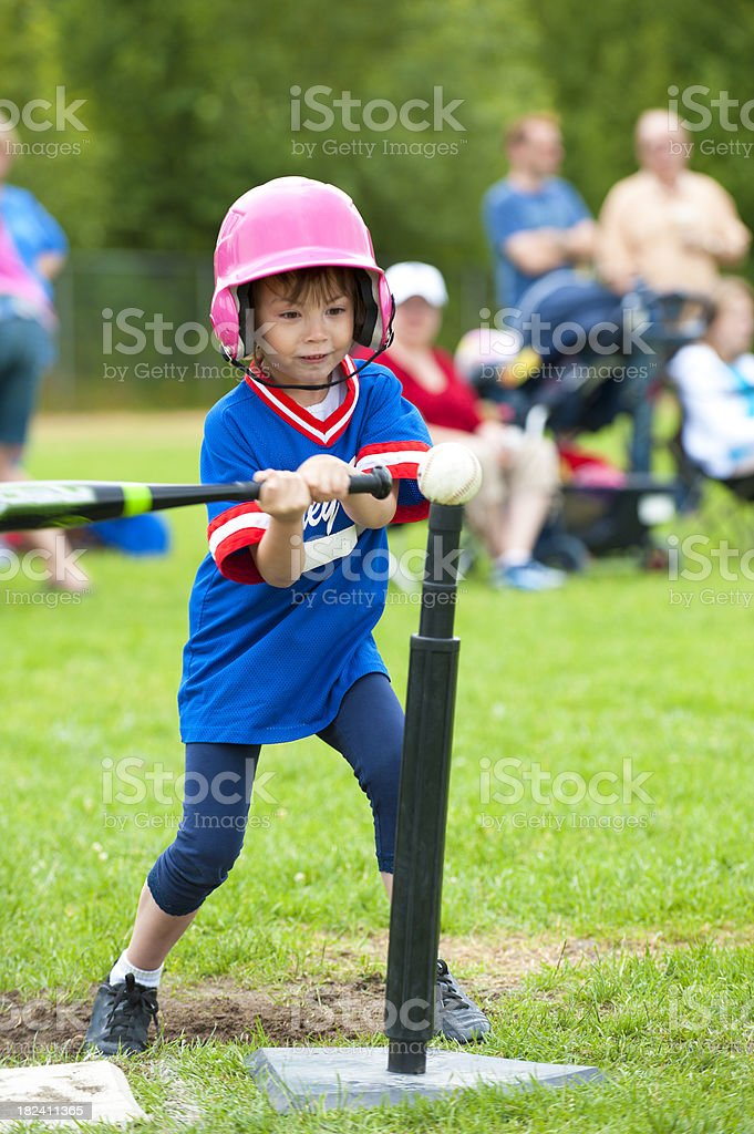 Tee Ball Player stock photo