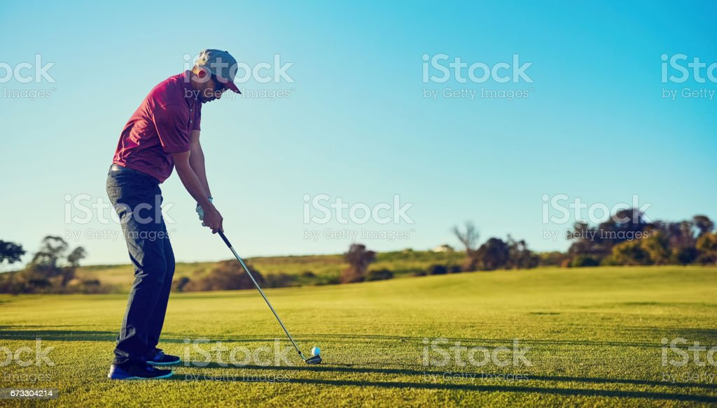 Tee off. Game on stock photo