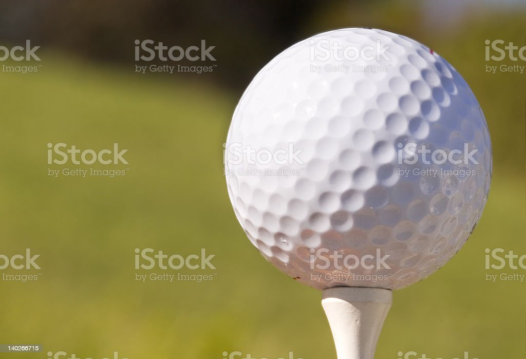 Tee off royalty-free stock photo