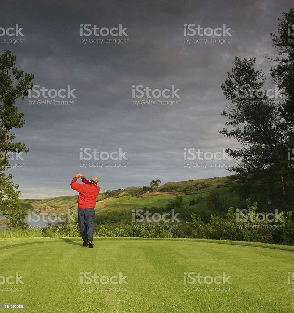 Tee Shot royalty-free stock photo