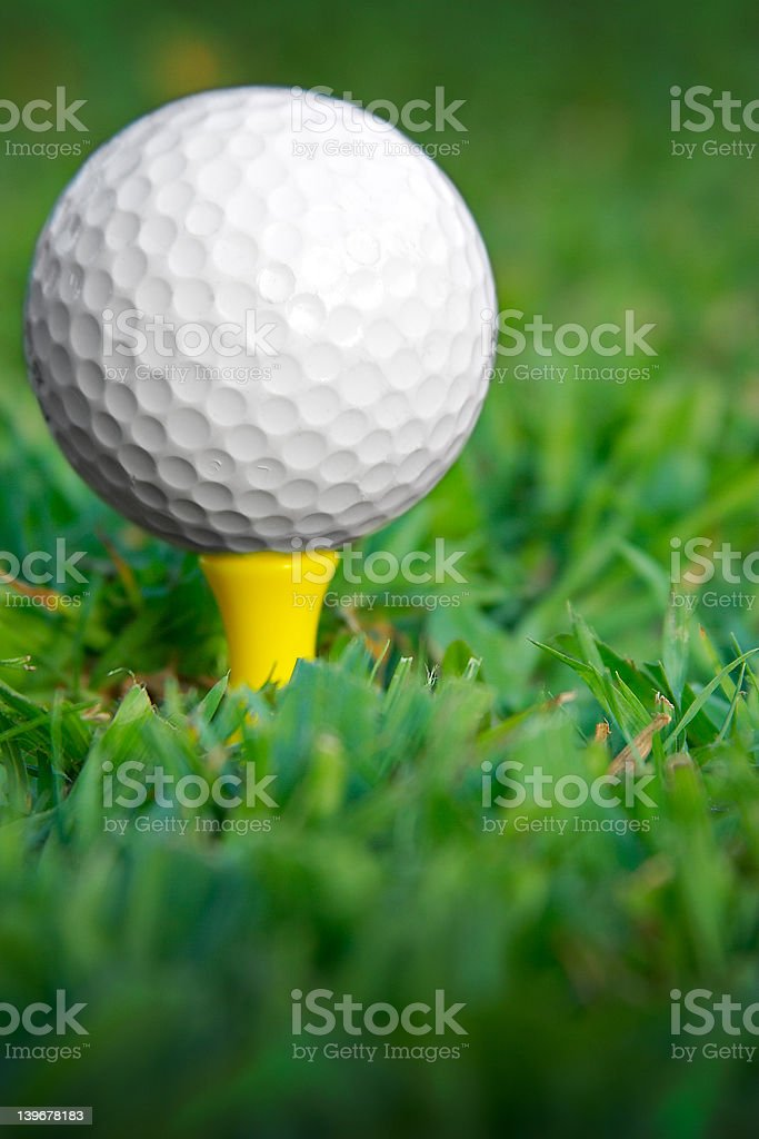Tee up vertical royalty-free stock photo